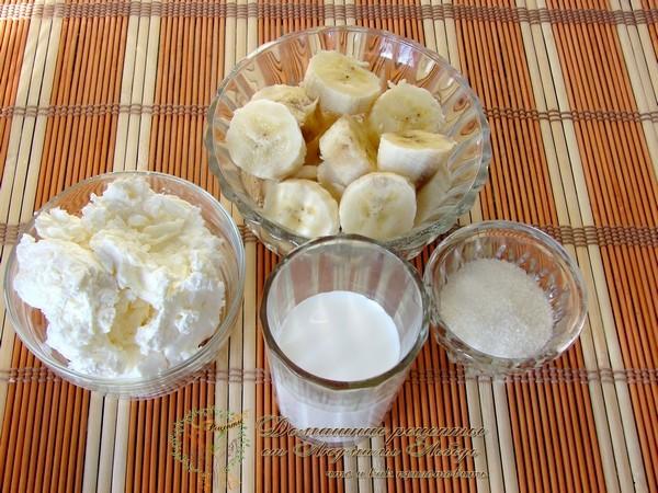 Что приготовить из бананов. Десерт из бананов и творога