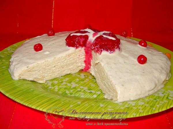 Как приготовить блинный торт. Масленичная неделя