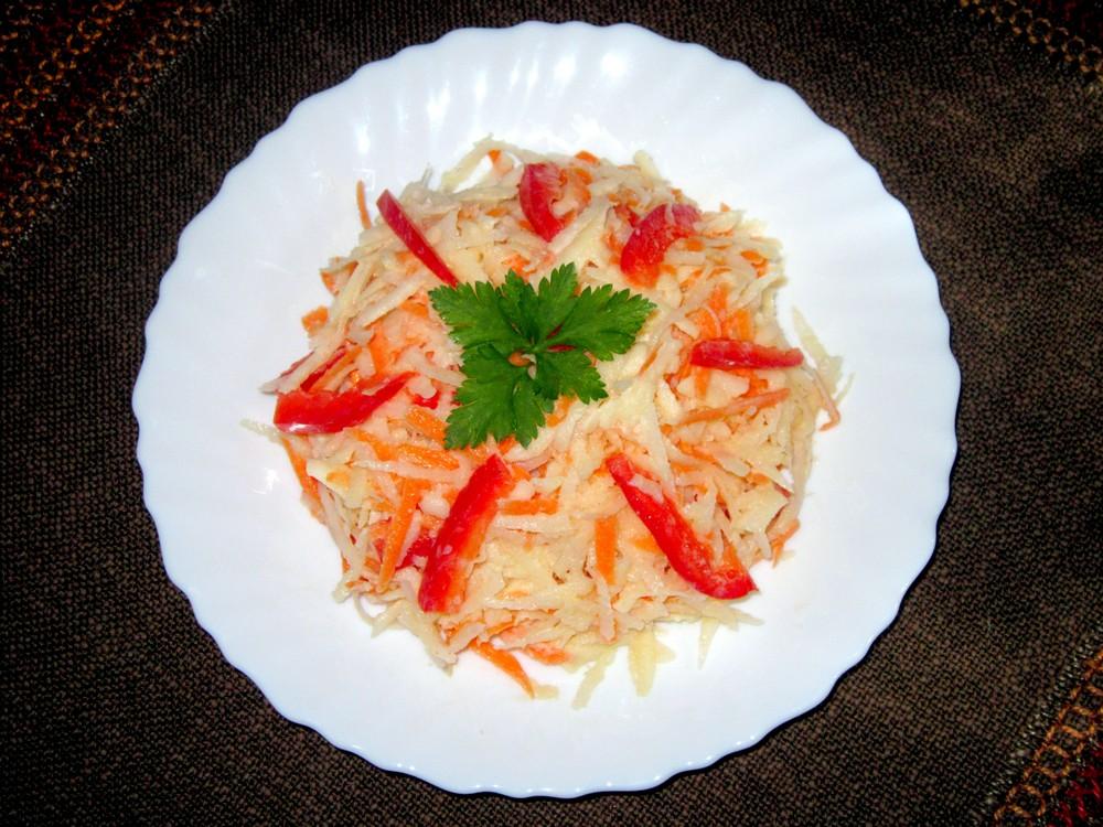 Как приготовить простой салат на каждый день. Капуста кольраби