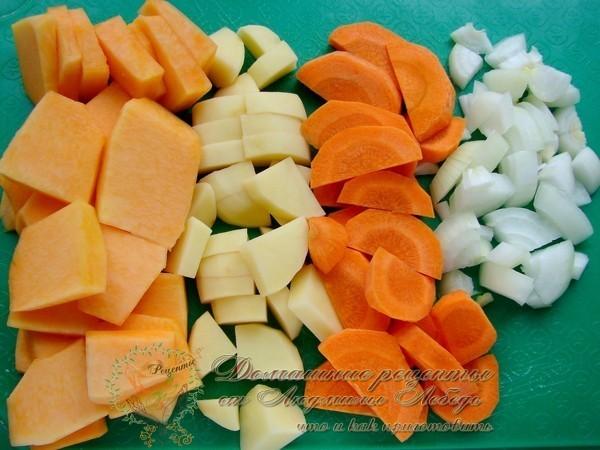 Приготовить тушеное мясо с картофелем в мультиварке