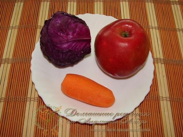 Как приготовить простой салат на каждый день. Салат из краснокочанной капусты