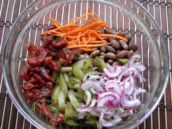 Как приготовить салат из фасоли