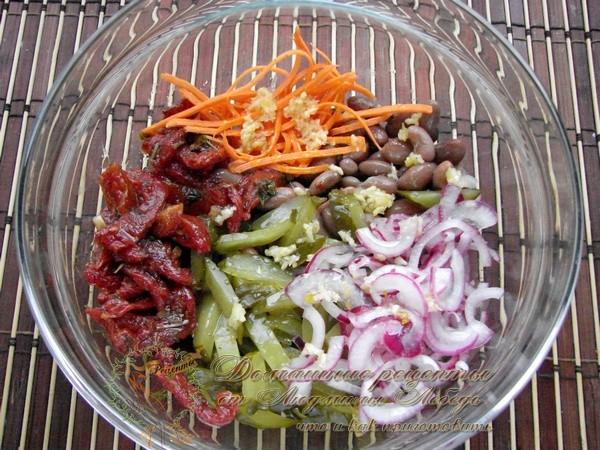 Рецепт салата из фасоль как приготовить с