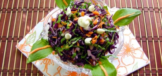 Как приготовить салат из капусты. Салат из краснокочанной капусты