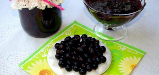 Варенье из чёрной смородины пятиминутка