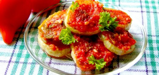 Рецепт закуски из баклажанов