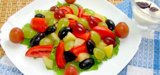 Рецепт салата с виноградом