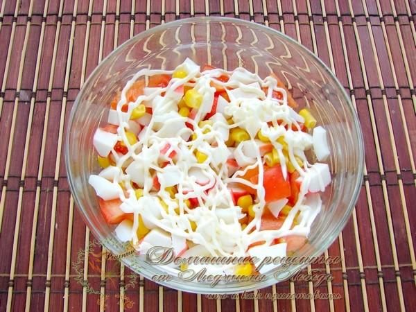 Салат с красной икрой на Новый год
