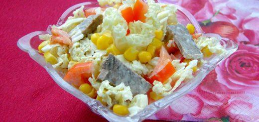 Мужской салат с говядиной