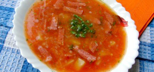 Суп с колбасой. Рецепт супа с колбасой