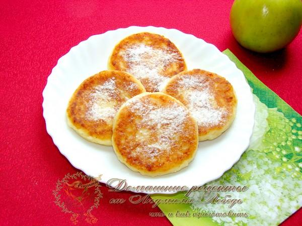 Сырники с яблоками пошагово