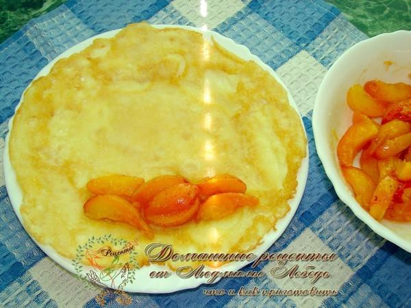 Блинчики на воде с абрикосами