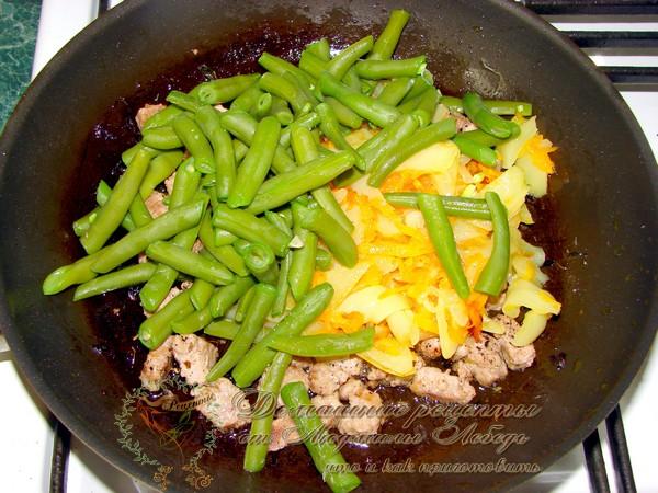 Овощное рагу с фаршем