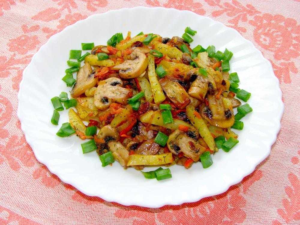 Грибы с картофелем
